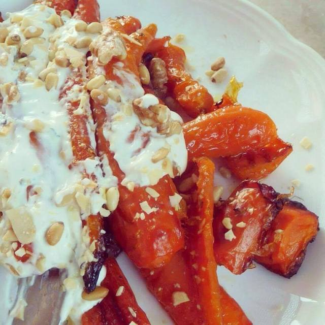 carrots in yohourt