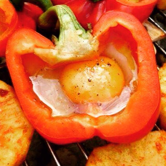 red pepper in the BBQ