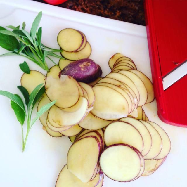 potatoe bake, slices mandoline