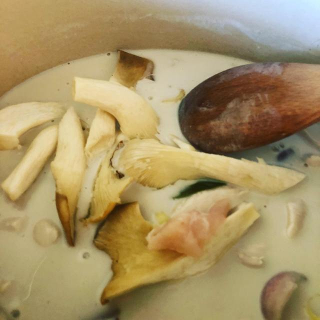 Thai soup, mushrooms